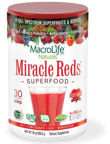 MacroLife Naturals Miracle reds superfood (30 porcí) 283 g (exp 02/2020)