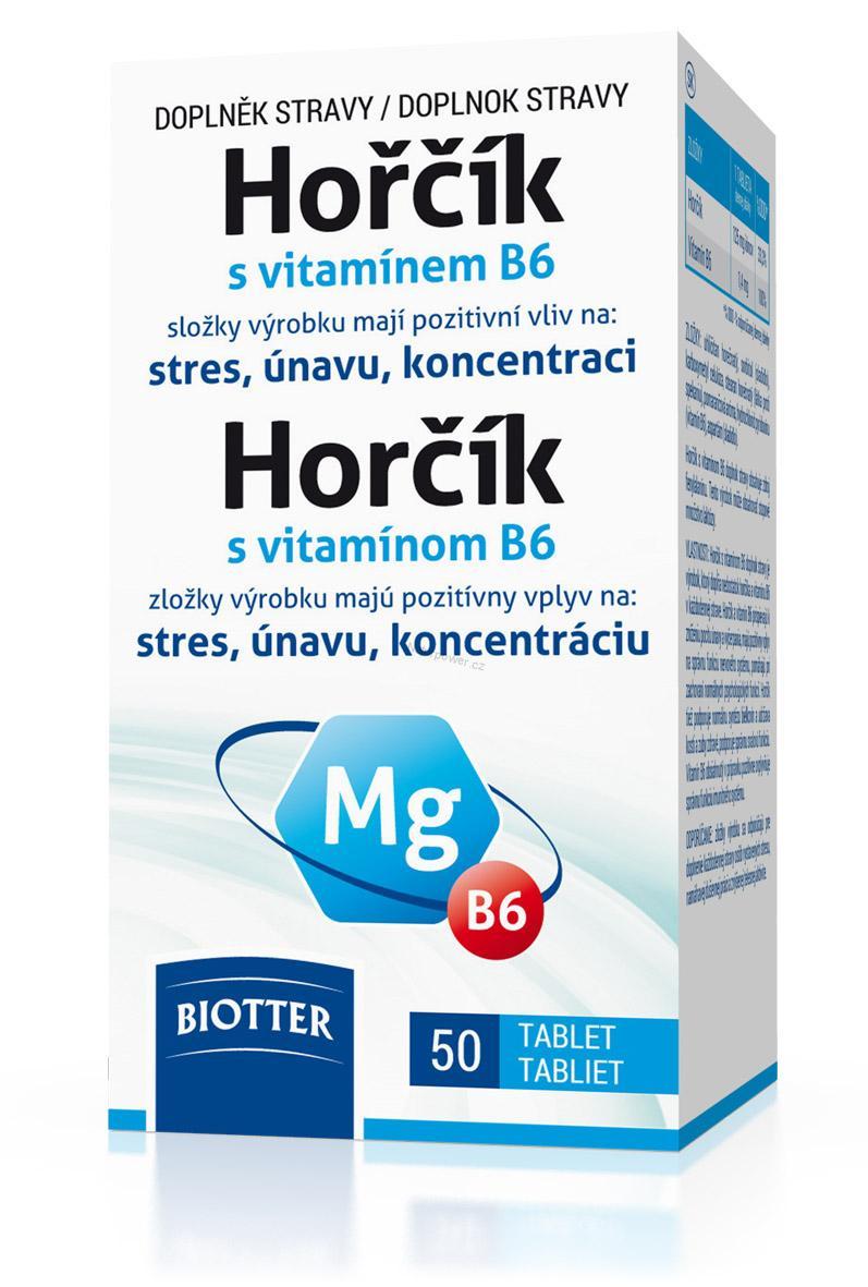 Biotter Hořčík 125 mg s vitamínem B6 50 tbl.