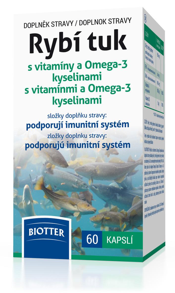 Biotter Rybí tuk s vitamíny a Omega-3 kyselinami 60 tbl.