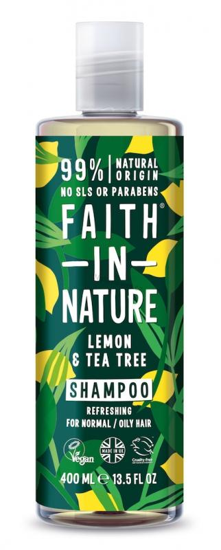 Faith in Nature šampon proti lupům Citrón & Tea Tree 400ml