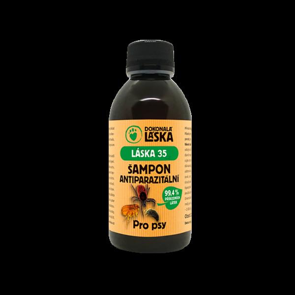 LÁSKA 35 Antiparazitální šampon pro psy 200 ml (proti klíšťatům, blechám a jiným druhům hmyzu)