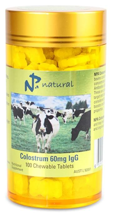 Australian Remedy Colostrum (kolostrum) 60mg IgG 100 žvýkacích tablet