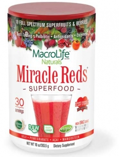 MacroLife Naturals Miracle reds superfood (30 porcí) 283 g